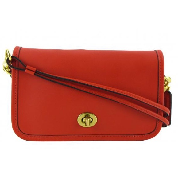 bd2823d3c3a Authentic COACH Red Leather Crossbody